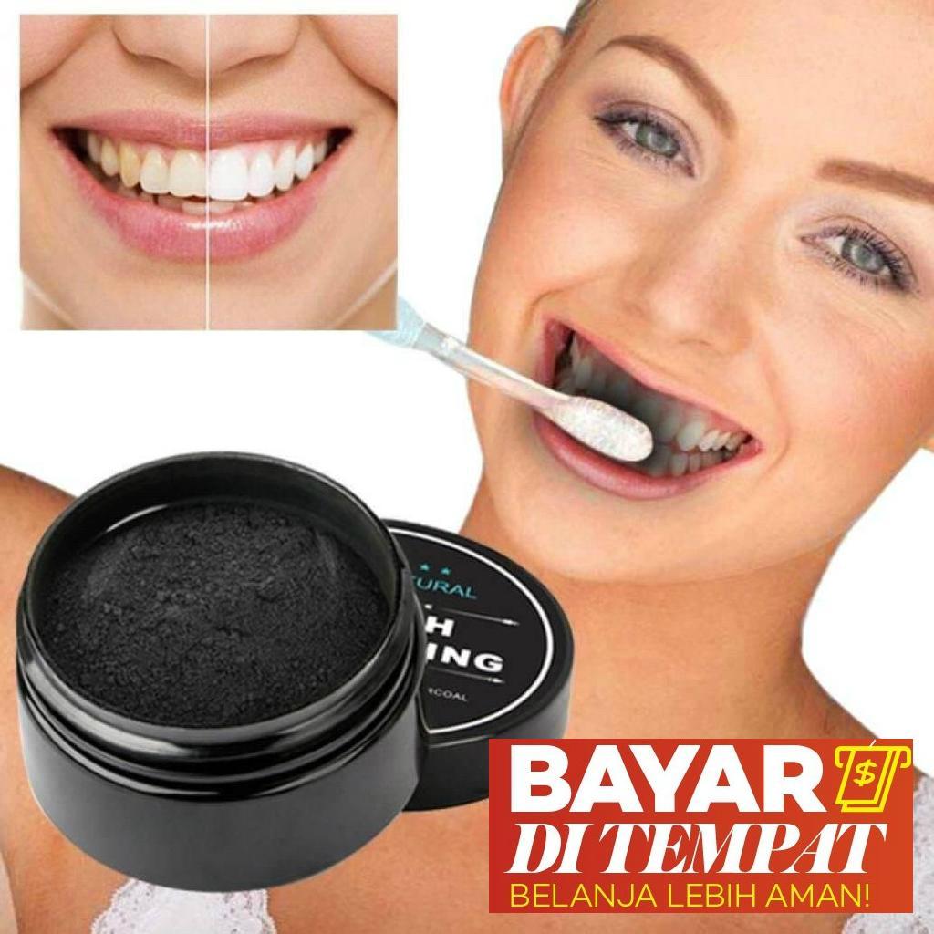Pemutih Gigi Ampuh - Teeth Whitening Charcoal 100% Natural - Arang Pemutih  Gigi - Arang 08a742df96