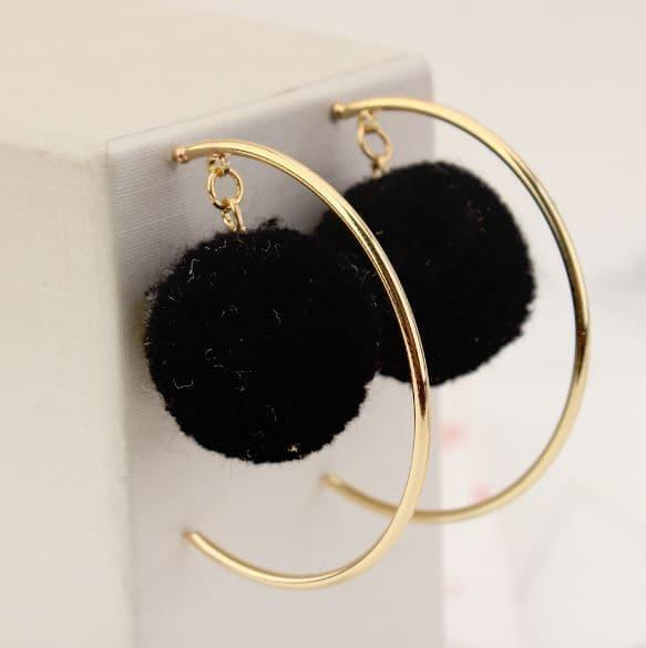 PROMO SAAT INI anting aksesoris fashion korea dangling earring ball hoop jan126 TERLARIS