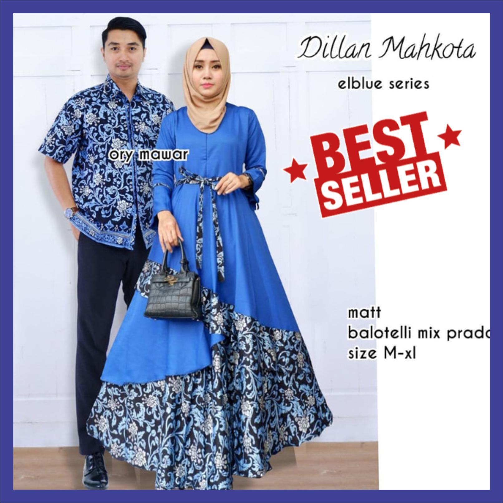 Batik Couple / Baju Batik Sarimbit / Batik Couple Modern / Batik Couple Muslim / Kemeja Batik / Batik Couple Kondangan Dillan Mahkota