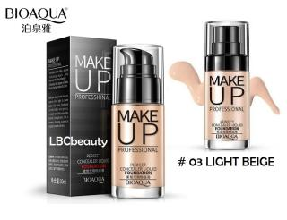 BIOAQUA MAKE UP PROFESSIONAL PERFECT CONCEALER LIQUID FOUNDATION ORIGINAL - 03 LIGHT BEIGE thumbnail