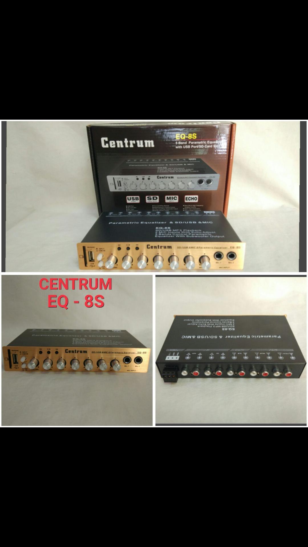 Centrum EQ 8S original Equalizer amplifier Parametric Pre Amp Audio Mobil car suara bas ampli USB MP3 MUSIK karaoke LIT BONUS GRATIS ONGKIR
