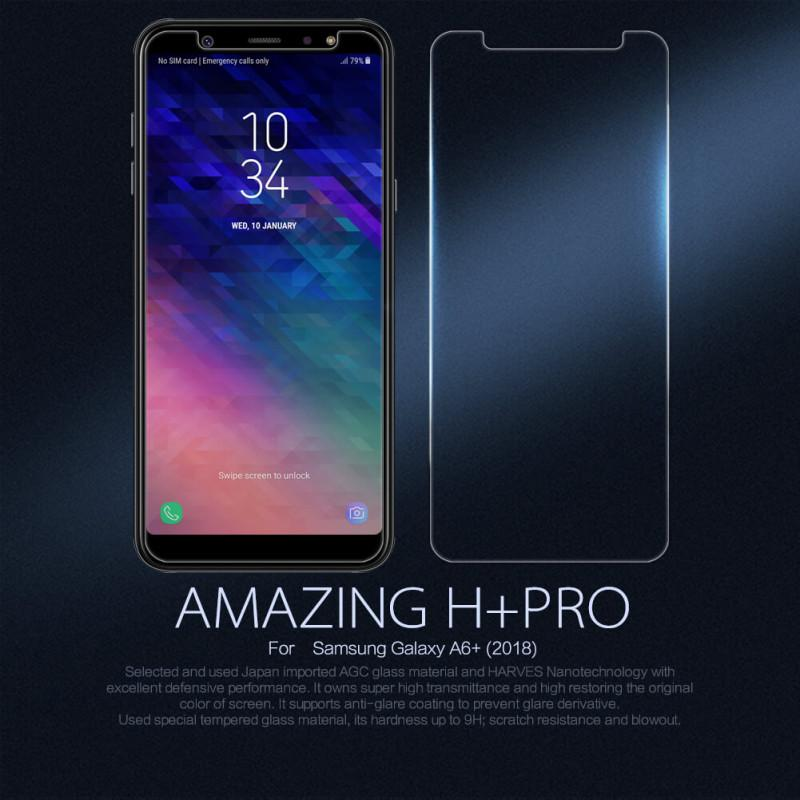 Nillkin Amazing H+ Pro tempered glass screen protector for Samsung Galaxy A6 Plus (2018) - Clear