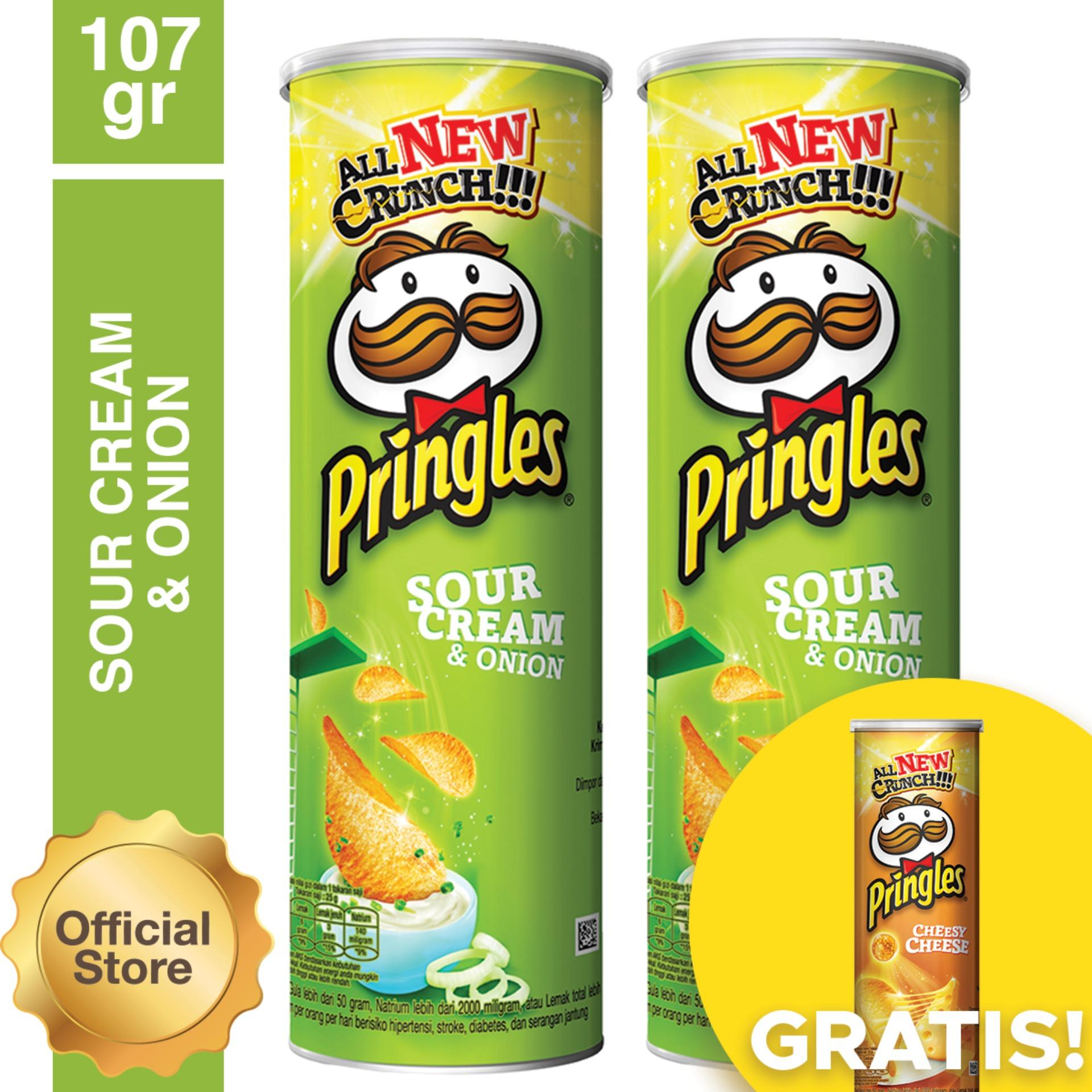 [Buy 2 Get 1] Pringles Sour Cream & Onion 107g FREE Pringles Cheesy Cheese