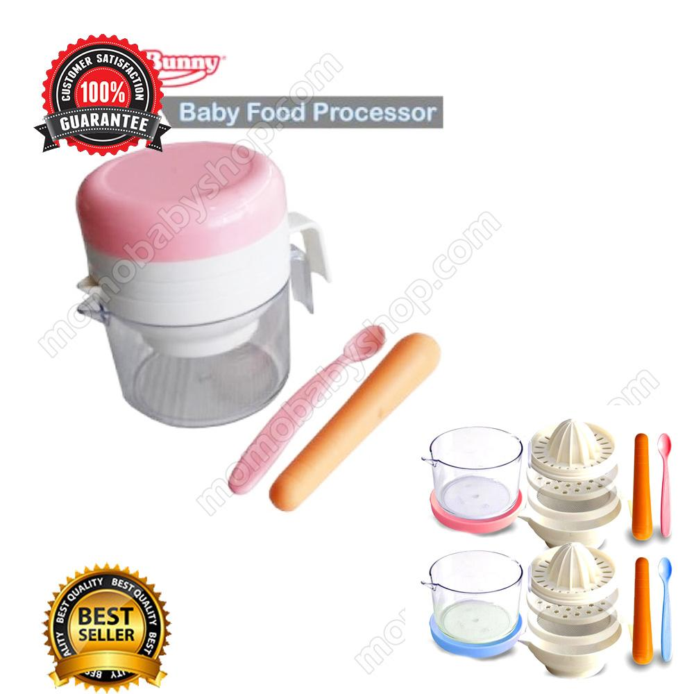 Lusty Bunny Baby Food Processor Pink - Alat Penghalus Makanan Bayi Manual
