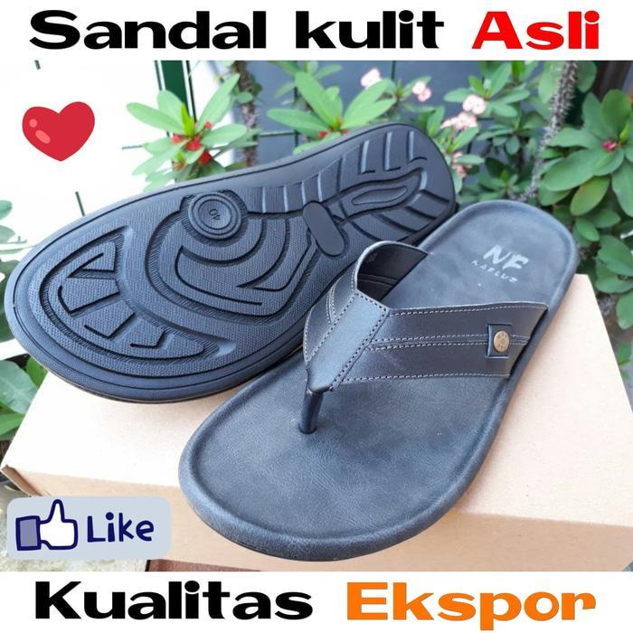Best Seller!! Sandal Kulit Asli Model Jepit Keren Homyped Yongki Komaladi Carvil - ready stock