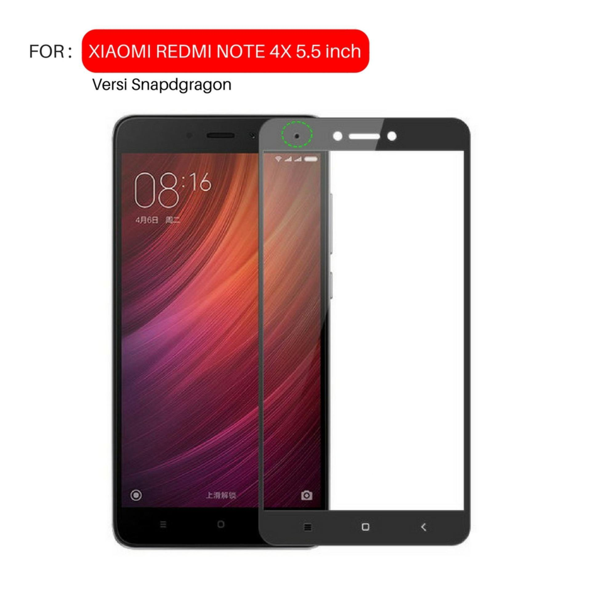 Full Cover Tempered Glass Warna Screen Protector for Xiaomi Redmi Note 4X / Note 4 Versi