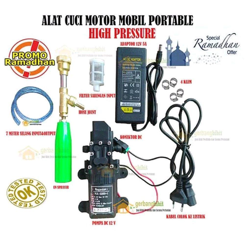 Kami Perlu Dukungan Anda Alat Cuci AC Motor Mobil Kualitas Dijamin Memuaskan Jet Cleaner Pump AC-DC Japan Quality