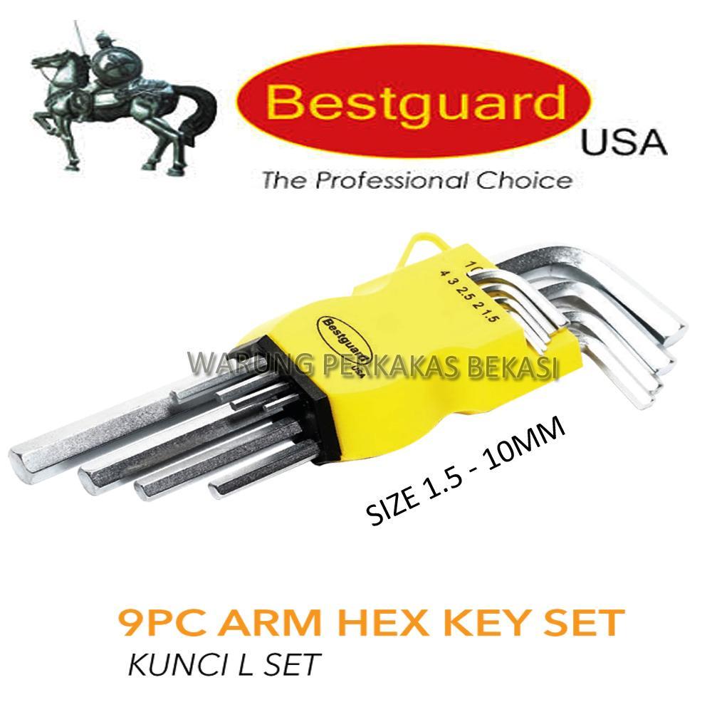 Buy Sell Cheapest 9 Pcs Kunci Best Quality Product Deals L Bintang Set Panjang Extra Long Bestguard Arem 15mm 10mm 9pcs Bukan Tekiro