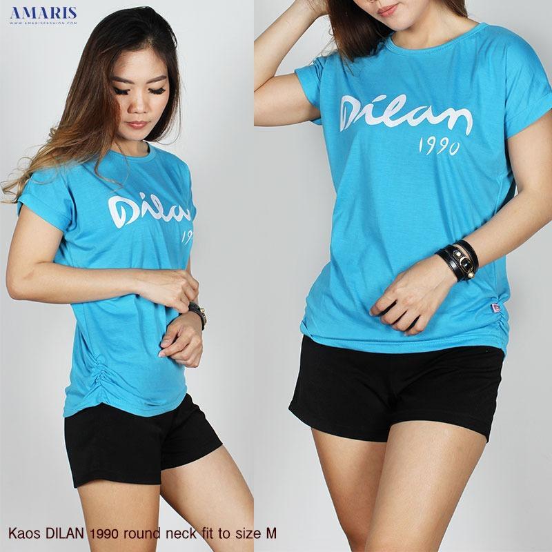 Kaos Kalong Dilan - Kaos Atasan Cewek Murah - Amaris Fashion