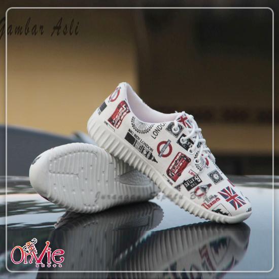 Onvie Sepatu Kets Sneakers dan Kasual Anak- Motif Paris   London 392f0f6432