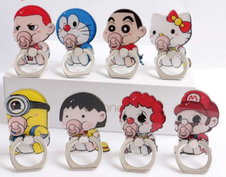 Iring Ring Holder Handphone Karakter HP Cartoon Bayi QX9