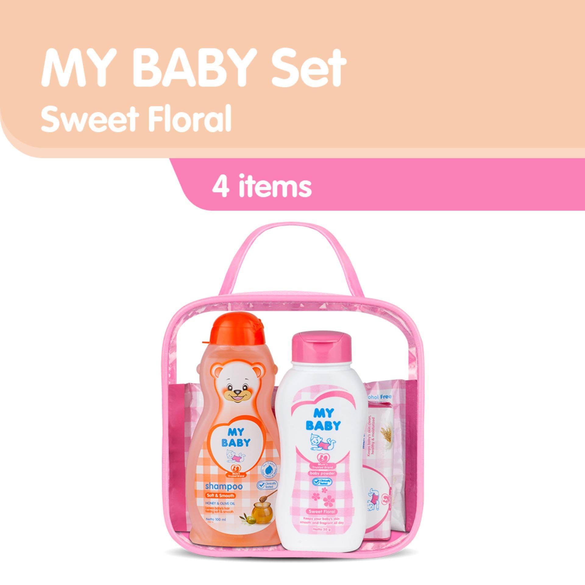 My Baby Set Sweet Floral Perlengkapan Bayi