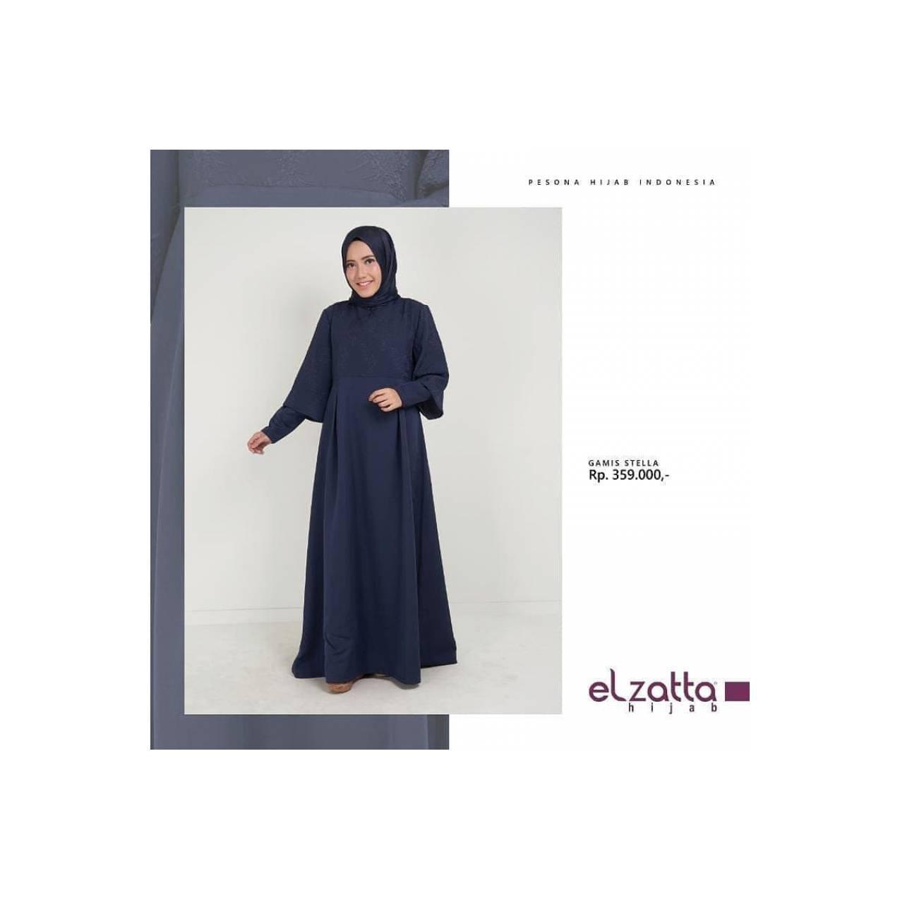 Gamis Muslim Polos Wanita Terbaru Elzatta Stela