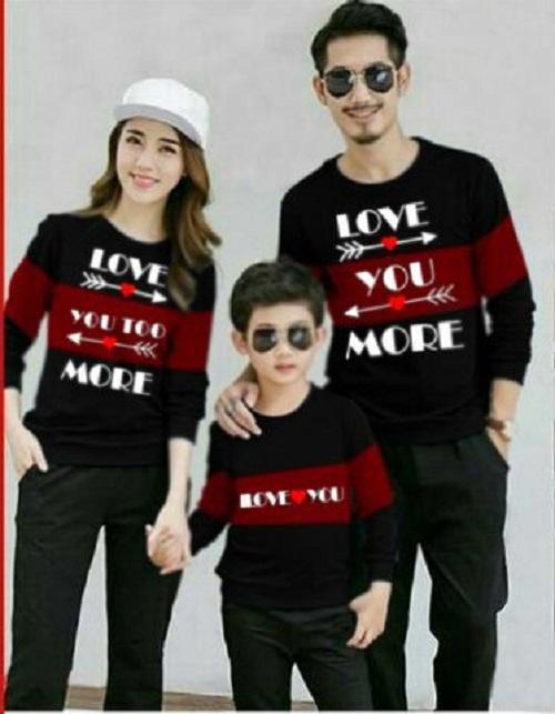 Jakarta Couple - Sweater Couple Family L U M /Sweater Keluarga /Baju Keluarga /Atasan Couple Family Mom Kid Dad