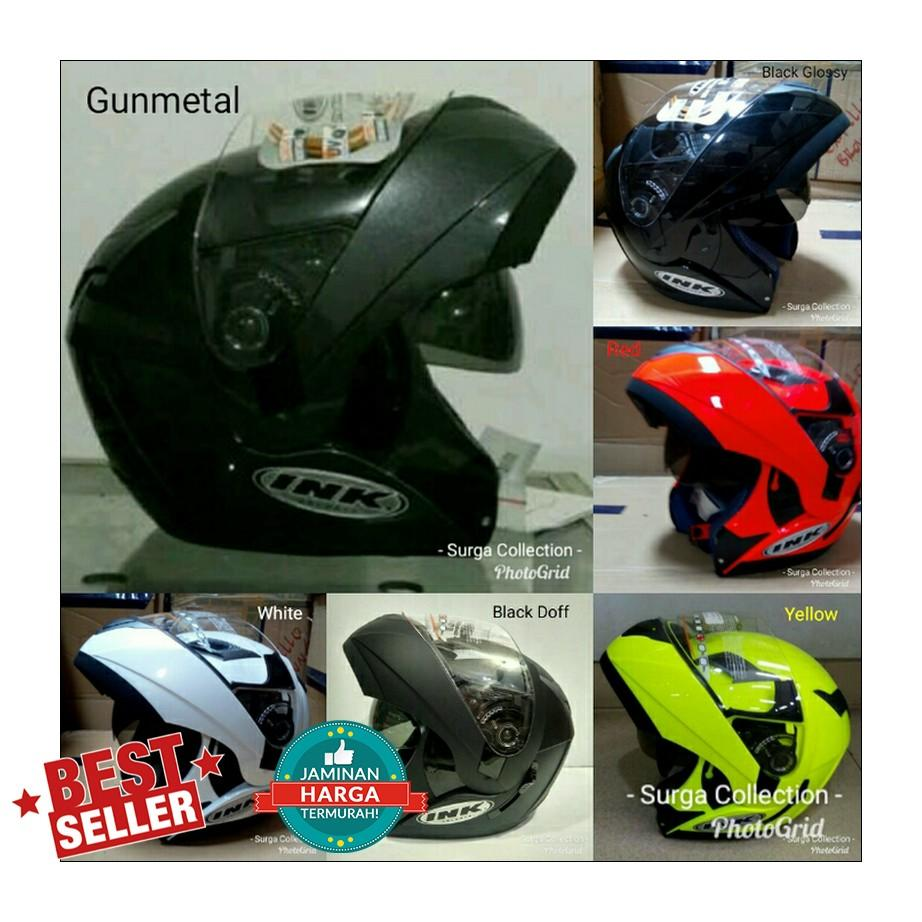 Helm INK Adventure Modular Black Doff Yellow Red Gunmetal White
