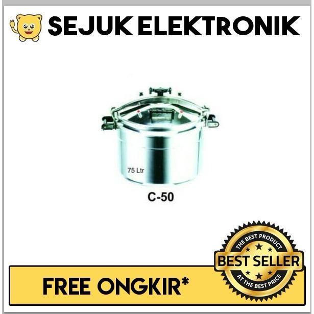 Getra C-50 Pressure Cooker / Panci Presto - 75 Liter (JADETABEK ONLY)
