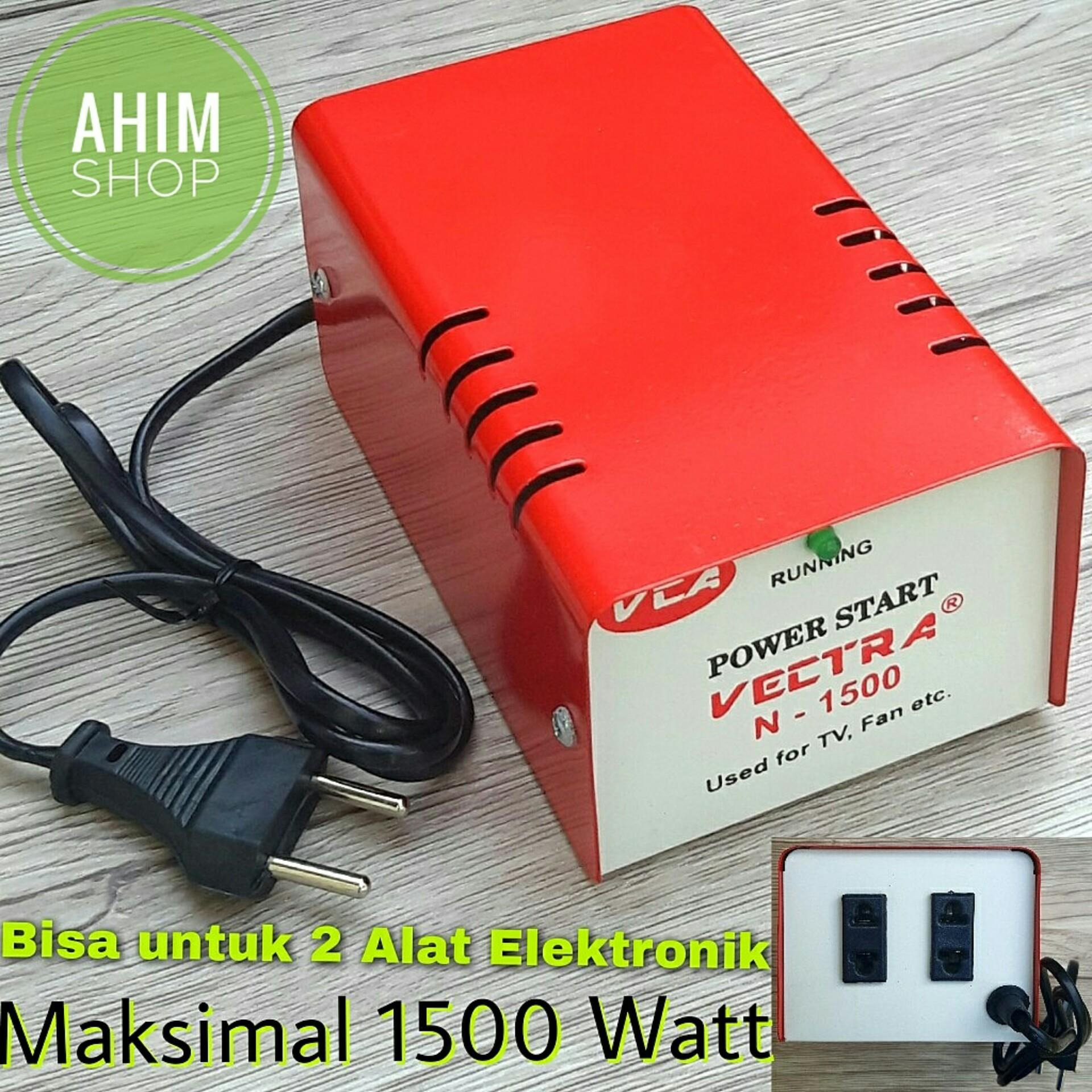 VECTRA® Auto Start Dua Alat Elektronik Max 1500 W Body Besi Automatic Power Starting Penghemat