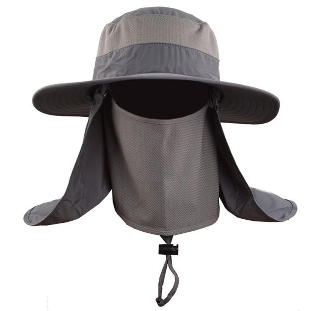 Topi Rimba Lapangan Mancing Hiking 3in1 Fullface Outdoor Quick Dry Bucket Hat  di lapak Secret Adventure secretadventure