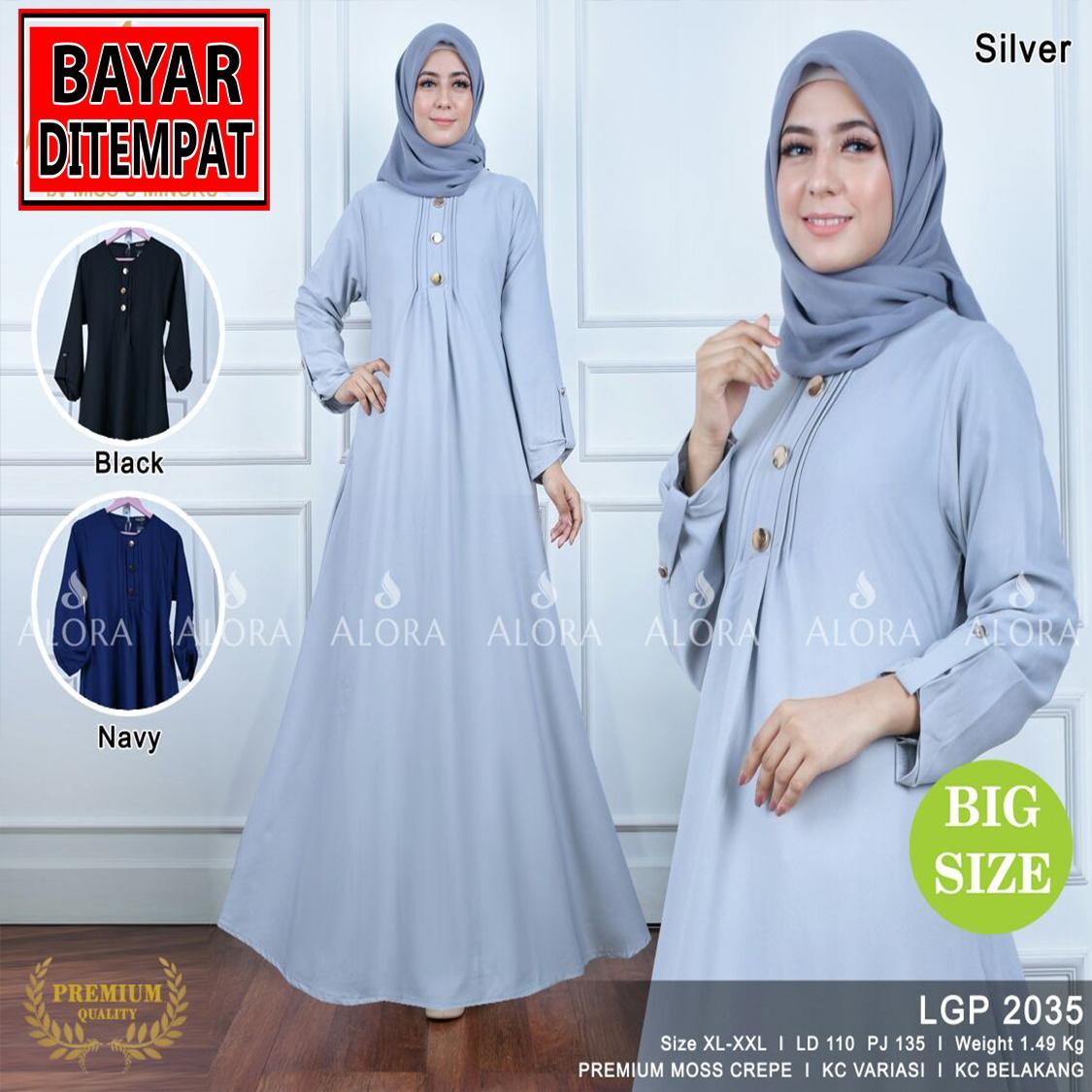 RATU SHOPPING Gamis jumbo size XL XXL Spesial lebaran baju muslim idul fitri ramadhan ceria LGp2035