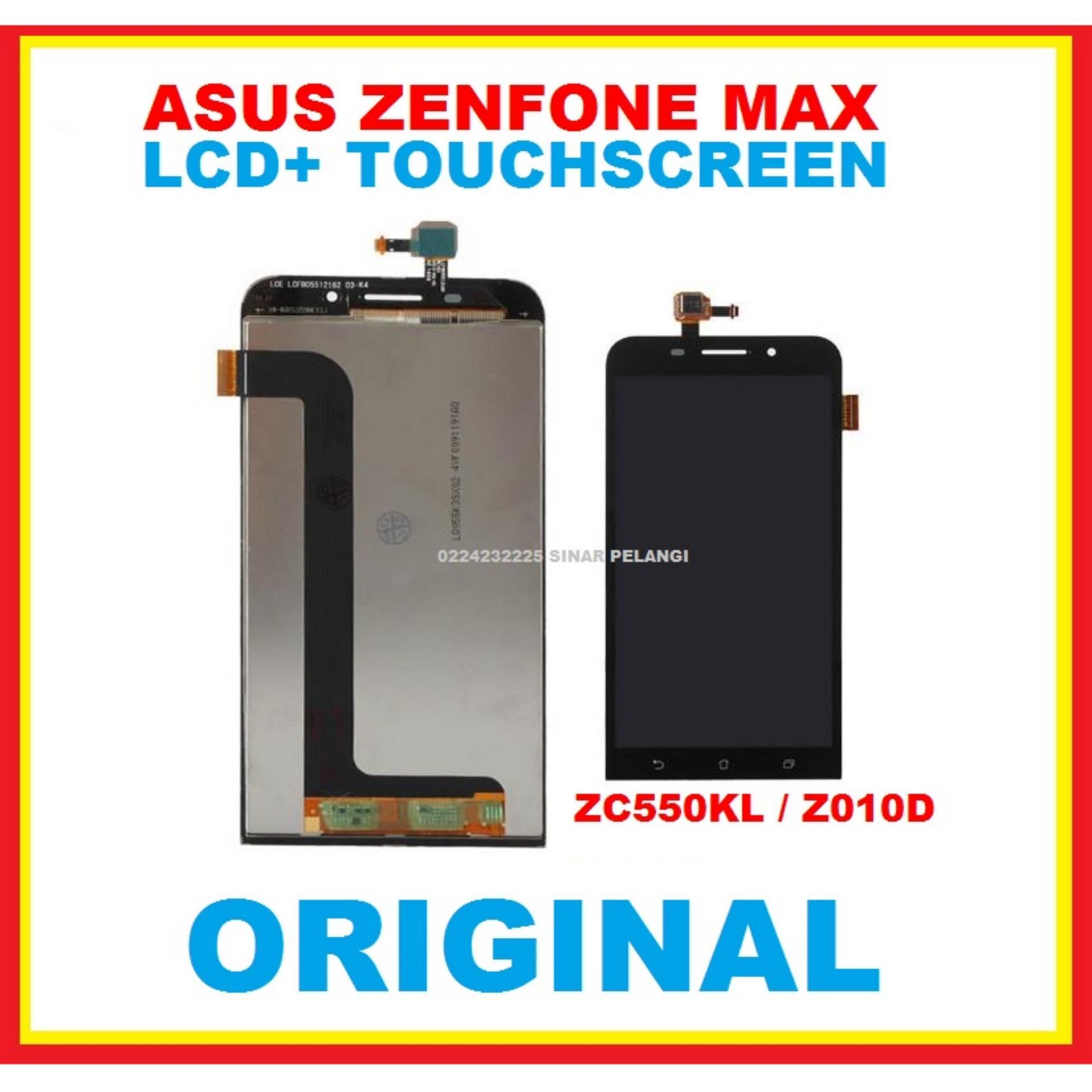 LAYAR LCD TOUCHSCREEN ASUS ZENFONE MAX ZC550KL Z010D  5.5 INCH PENGGANTI LCD TOUCH LAYAR SENTUH BLACK ORIGINAL 906771