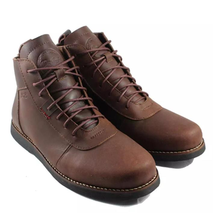 Brodo Sepatu Boots Kulit Asli 100% Bradleys Anubis Pull Up Leather (Coklat)
