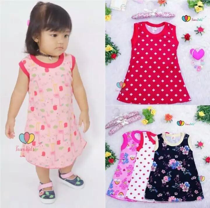 Baju anak - daster anak perempuan LUCU dan IMUT umur 3 bulan - 6 tahun (