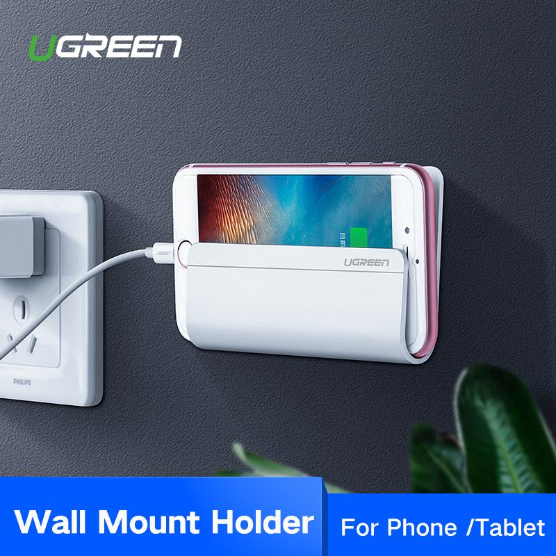 UGREEN Handphone Holder for Xiaomi Redmi Samsung Wall Mount Holder Adhesive Stand for Phone Samsung Galaxy