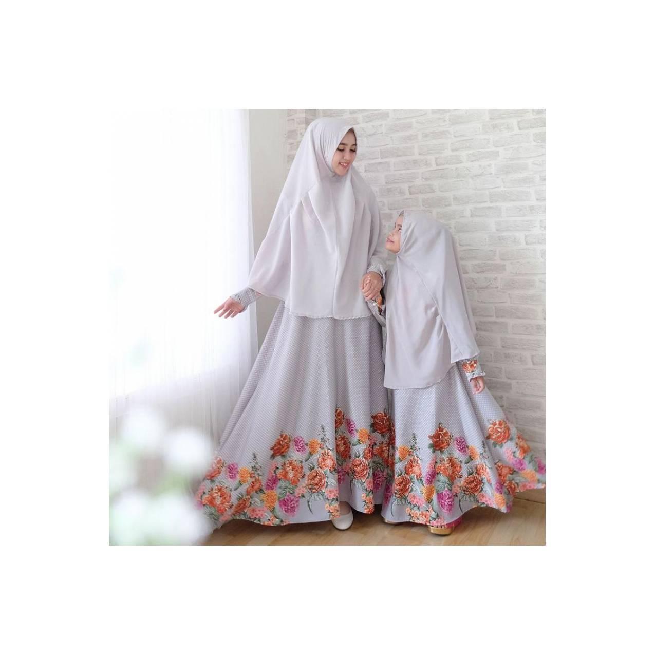 model baju muslim gamis terbaru dan modern Couple ibu anak Safira