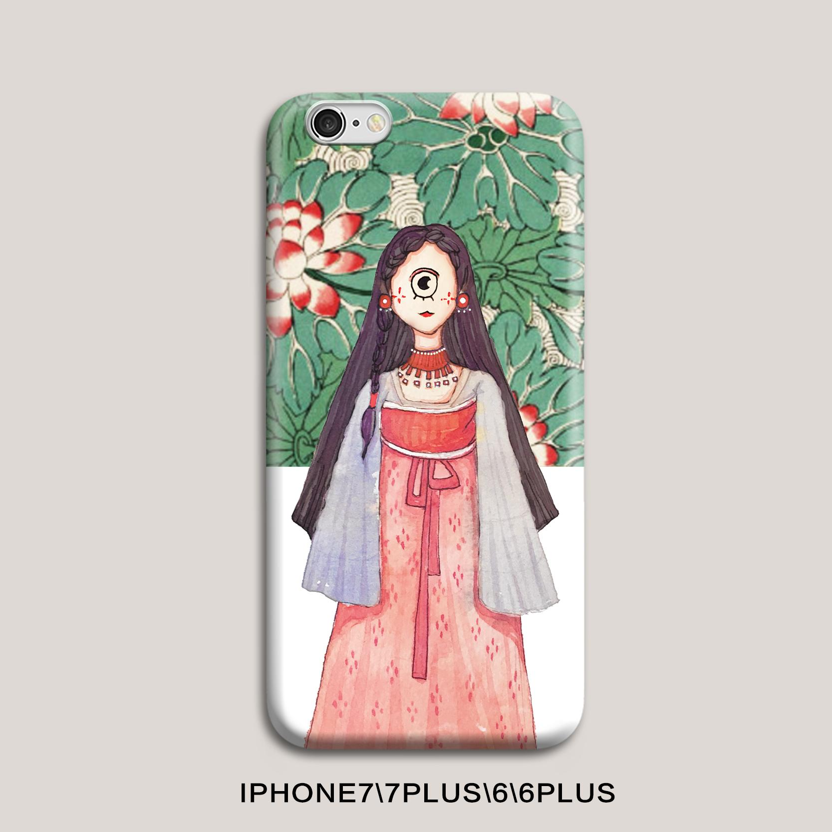 Padang Gurun Selubung Ponsel Hardcase IPhone7Plus Asli Teratai Bermata Satu Anak Perempuan