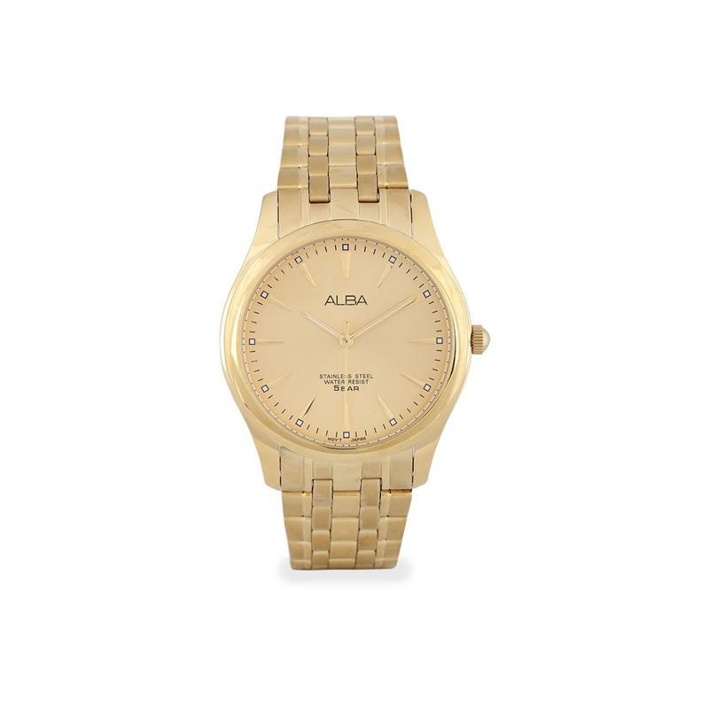 Alba - Jam Tangan Wanita - Gold-Gold - Stainless Steel - ARSY26X1 71a4200369