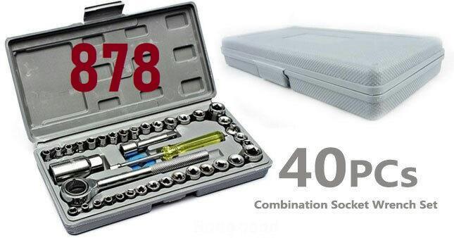 Terlengkap 878 - Tool Kit Shock Rachet / Kunci Sok Set 40 pcs / Kunci Shock