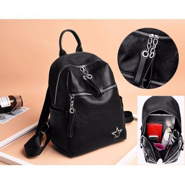 TAS FASHION KOREA STYLE MODEL TERBARU+BEST SELLER QQ810937-BAG BLACK RANSEL TAS IMPORT