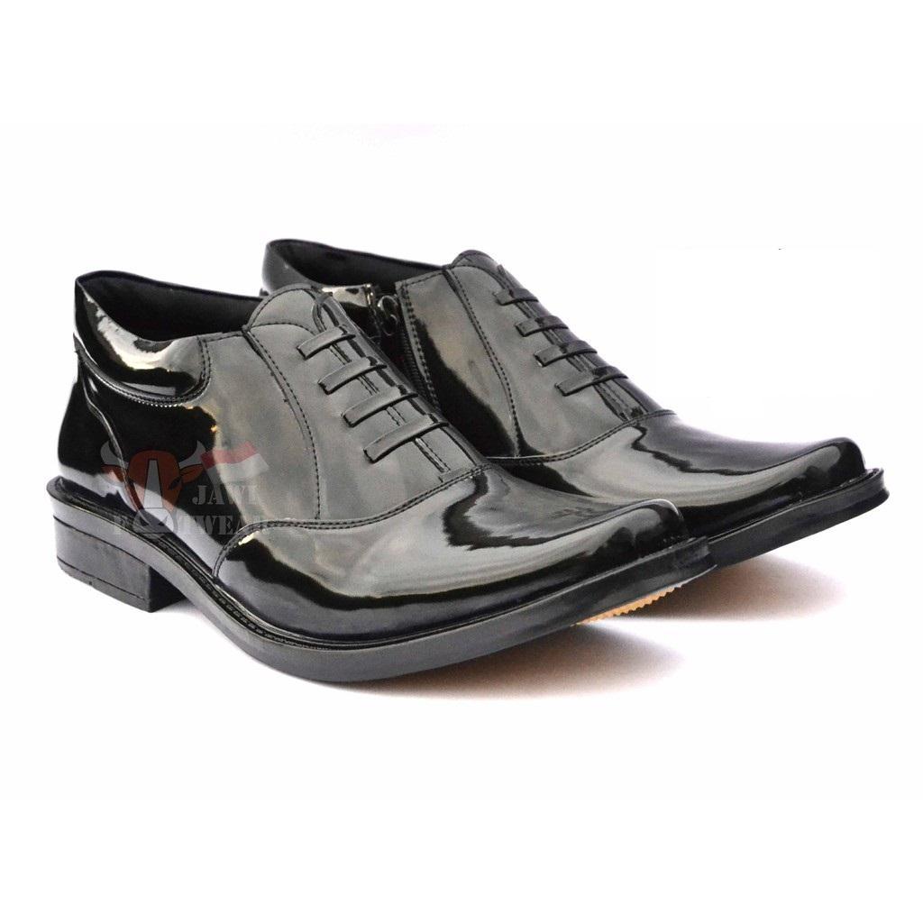 Buy Sell Cheapest Sepatu Pdh Polri Best Quality Product Deals Tali Ressleting Mengkilap Seri R02 Standar Terbaru