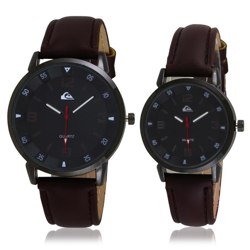 Quartz Watch Jam Tangan Kulit Couple - QS0223COUP - Jam Tangan Pasangan - Jam Tangan Pria