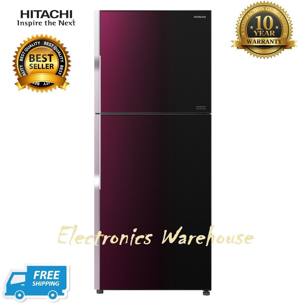 Hitachi Kulkas RVG47PGD3GXRZ-Gradation Rose Red New Stylish Line Glass 395L Free Ongkir jabodetabek