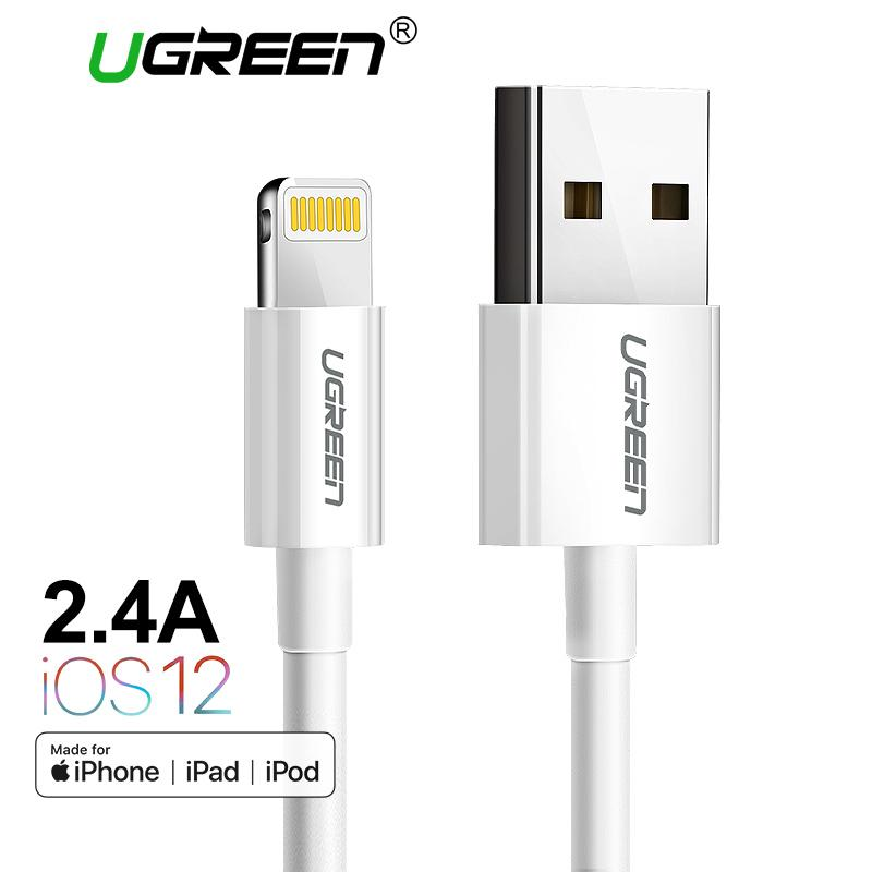 UGREEN Original 0.25M Apple lightning MFi Kabel Fast Charging Data Cable for iPhone 7plus iPod iPad White