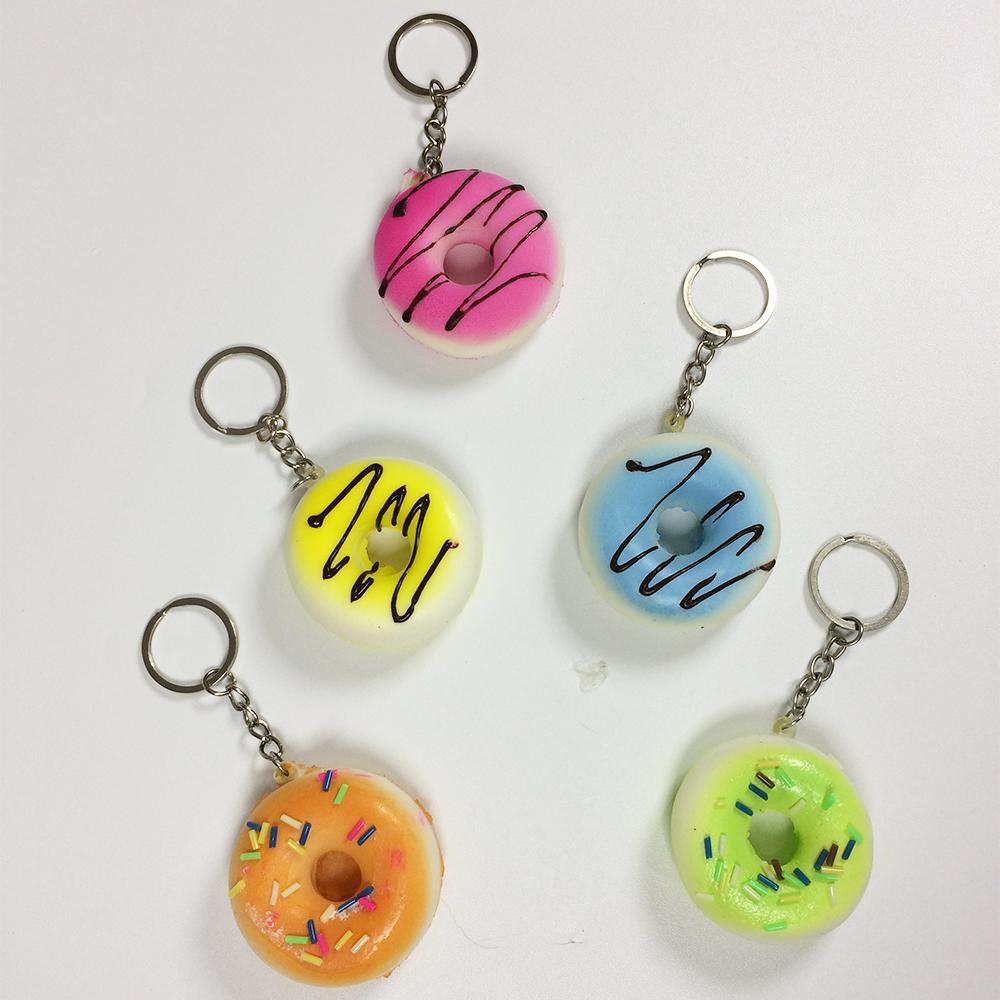 Rp 14.000. Toylogy Squishy Gantungan Kunci Donat ( Simulation Donut Slow Rising Squishy Fun Toys Key Chain ) ...