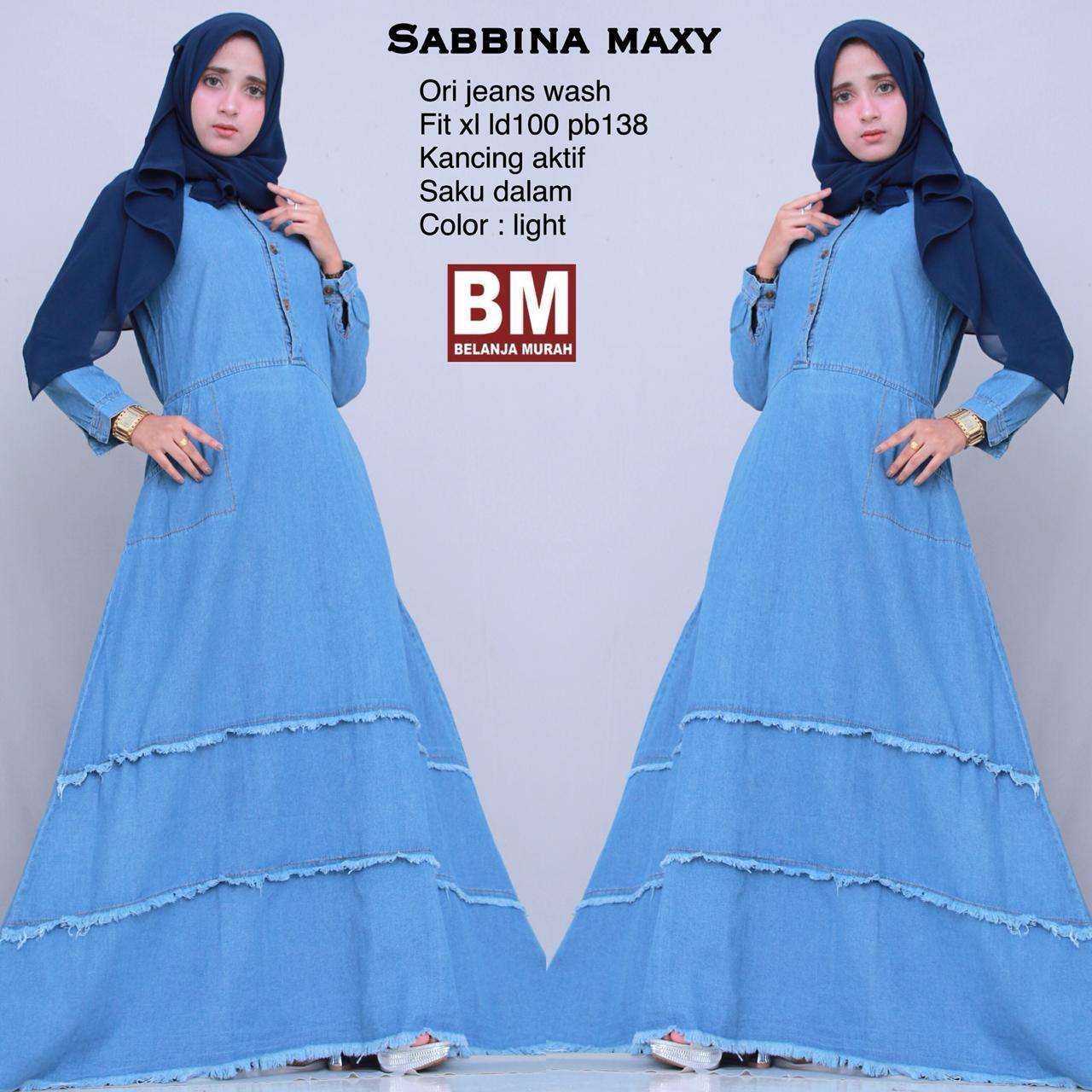 Sabbina Maxy - Maxy Dress - Gamis Jeans - Gamis Model Terbaru - Baju Muslim  Berkualitas 27ad3832bf