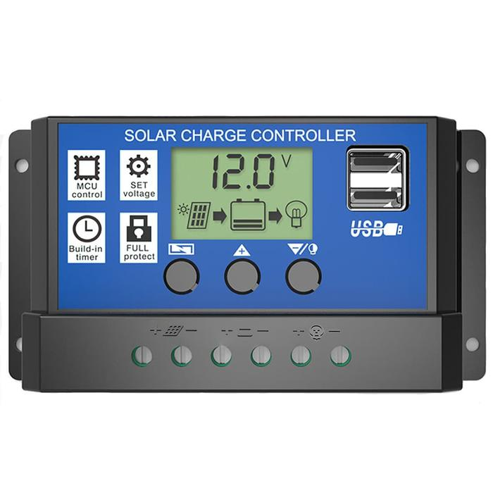 PWM Solar Panel Charge Controller 10A With Dual USB Port Panel Surya