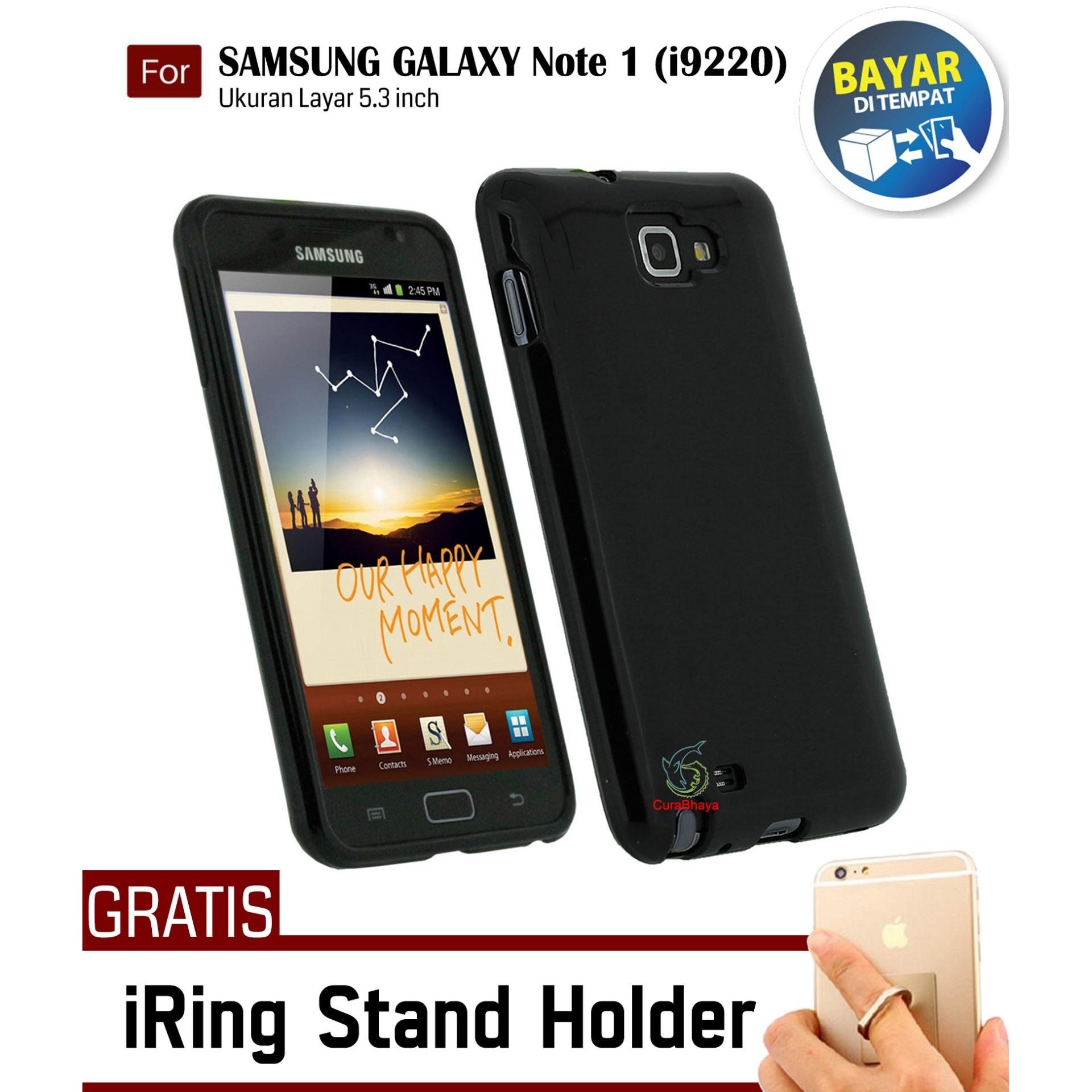 Promobaterai Handphone Samsung Galaxy Note 1 I9220 Original Battery Midnight N7000 Slim Case Black Matte Softcase Premium