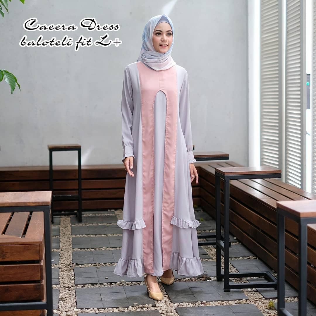 Gamis Caeera Dress Balotelly Baju Wanita Panjang Muslim Casual Wanita Pakaian Hijab Modern Baju Gaun Pesta Modis Trendy Terbaru 2018