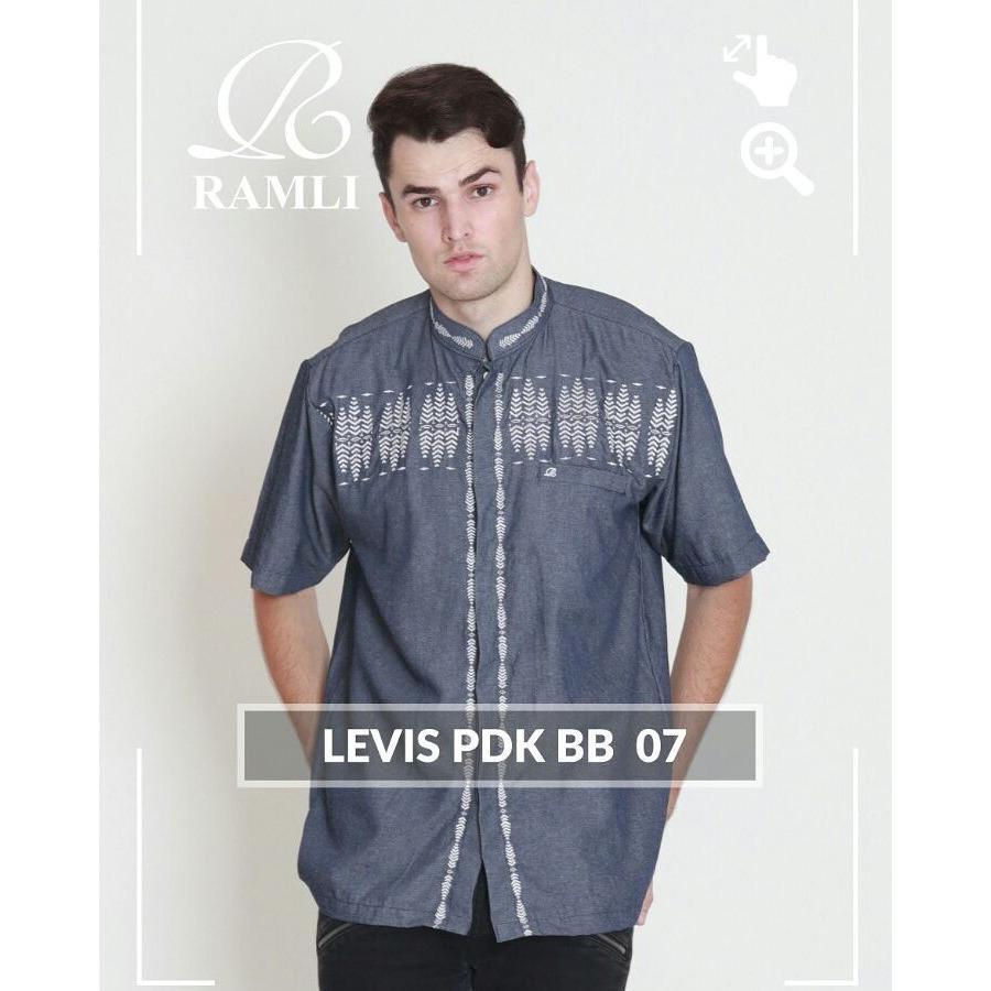 Baju Koko Lengan Pendek Ramli Levis07