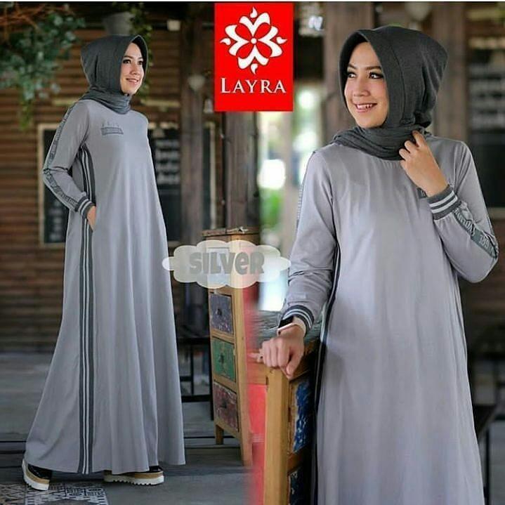 Original Baju Muslim Ria Dress Kaos Kombed Baju Gamis Muslim Panjang Maxy Kekinian  Pakaian Wanita Hijab 8b6fb9356e