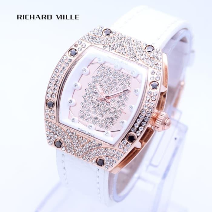 HOT PROMO  Jam Tangan Wanita Richard Mille Tali Kulit ( Aigner Bonia Casio Dior )  /SALE