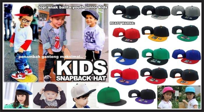 Rp 24.200 topi anak snapback polos kids balita hat cap cucok buat custom  broIDR24200 e750c09f40