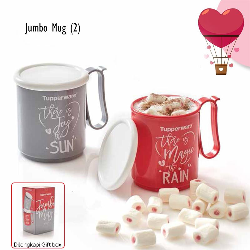 jumbo mug set (2) tupperware