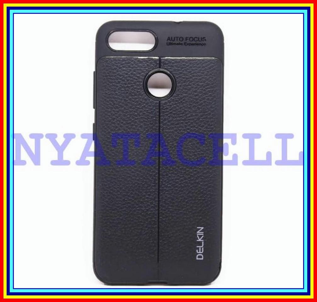 Soft Case Delkin Leather Autofocus Asus Zenfone Max Plus Plus M1 Zb570Tl - Hitam