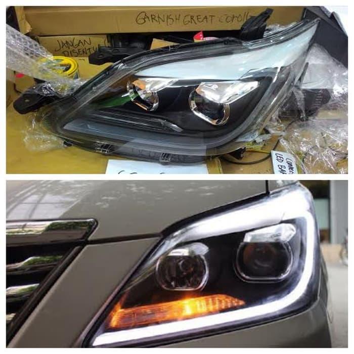 Promo     Headlamp Grand New Kijang Innova All LED Bar Lexus Style     Original