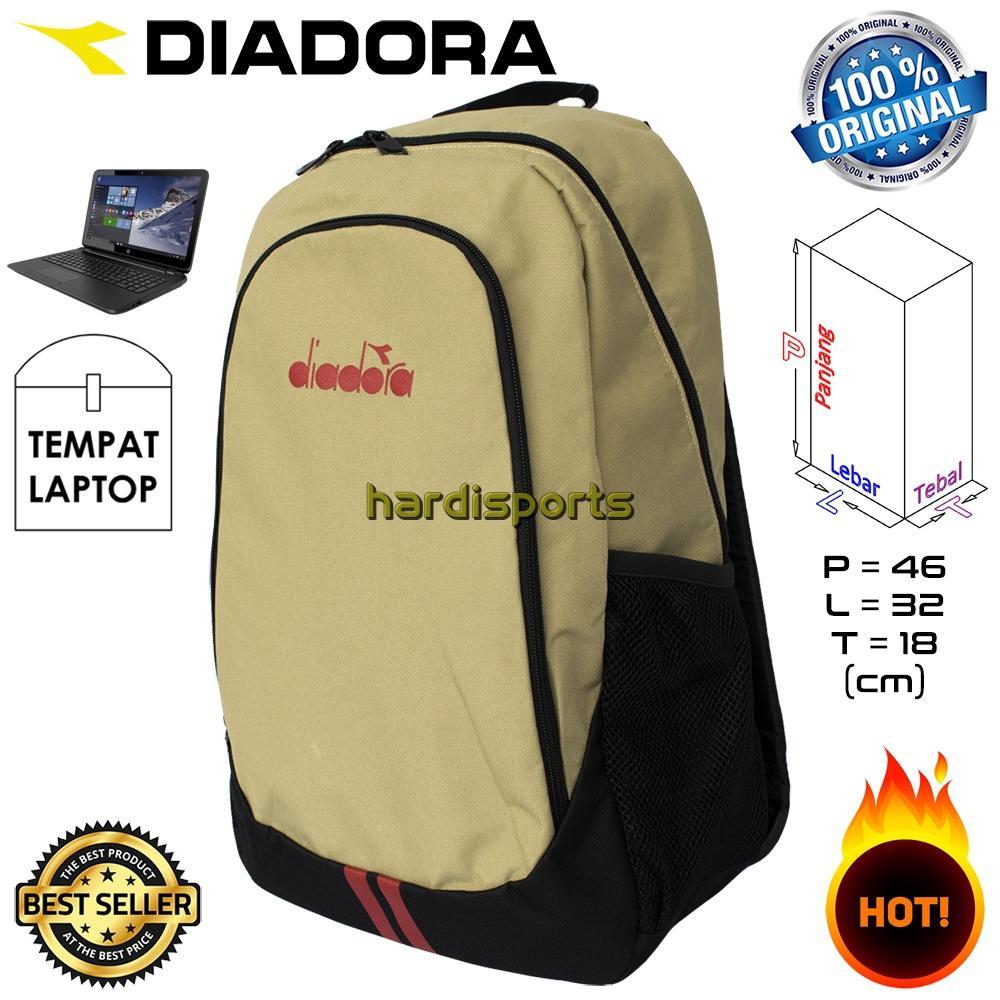 Tas Punggung Diadora Backpack Sporty 2 Strips DIAXBP8301KH - Khaki