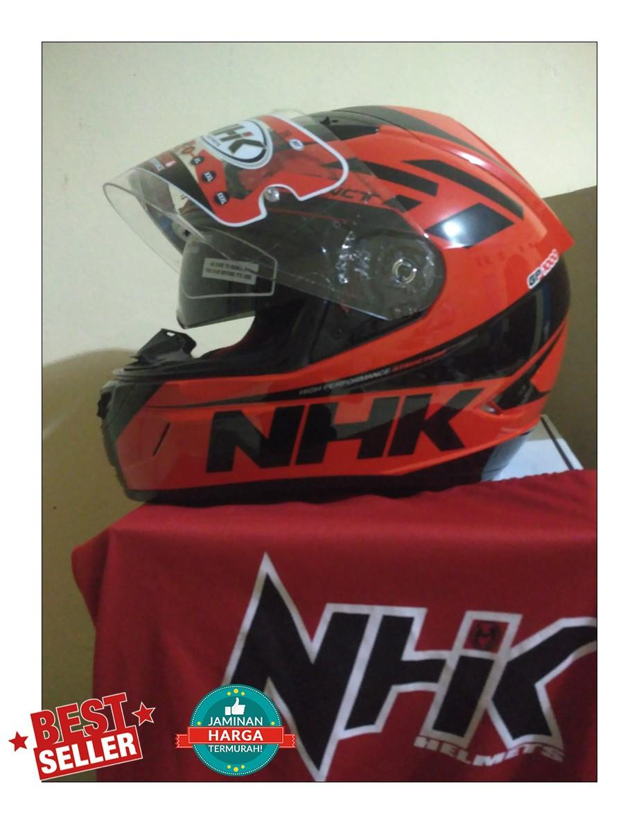 NHK GP1000 SE Orange Red - Merah, Fullface